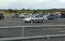 The Sports Stadium carpark often has available parking bays